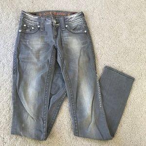 Rock Revival Gray Jeans, Size 25 Celine Straight
